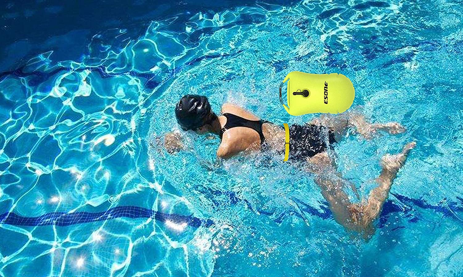 More Brighter /& More Lighter /& More Safer for Swimmers ESONE Swim Buoy Open Water Swim Buoy 15L
