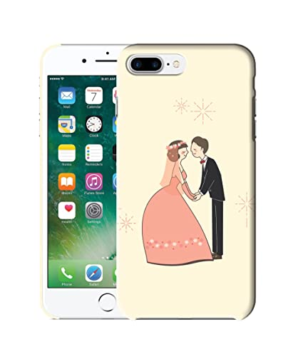 official photos de311 0d69b Jadebin Couple Anime Printed Back Case Cover for Apple iPhone 8 Plus ...