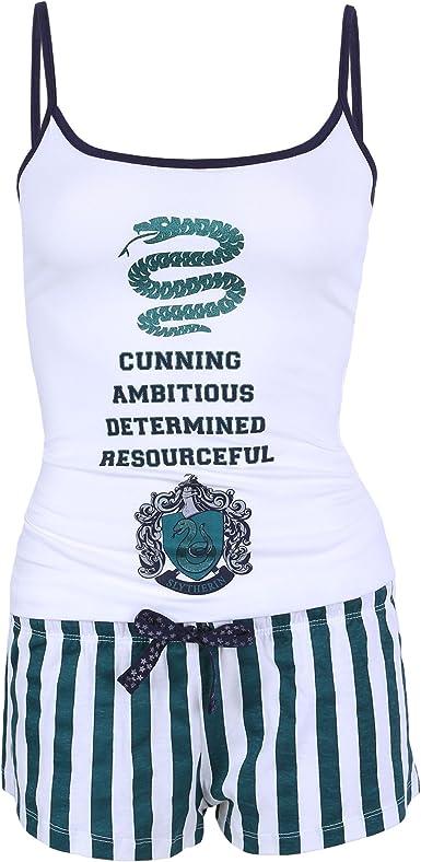 Harry Potter Slytherin - Pijama - para Mujer Verde Verde: Amazon ...