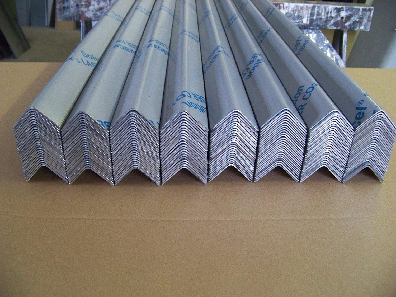 Spitz Eckschutzwinkel aus Edelstahl Kantenschutzwinkel Eckschutzschiene Schenkel 30mm x 30mm x 1500mm lang 1,5 mm stark