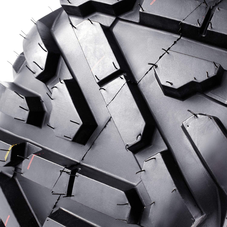 VANACC ATV all-terrain Tires 25x10-12 Set of 2 ATV UTV Tires 25x10x12 25 10 12 6PR Tubeless