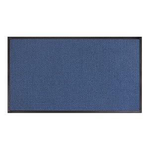 AmazonBasics Molded Carpet & Rubber Commercial Scraper Entrance Mat Square Pattern 2x3 Blue