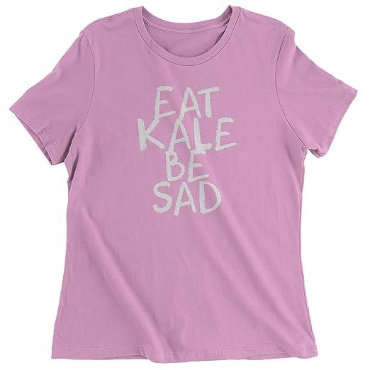 d60d84e237a8c3 Amazon.com: Expression Tees Womens Eat Kale, Be Sad T-Shirt Small Light  Pink: Clothing