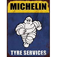 Cartel publicitario retro de Michelin de neumáticos tamaño
