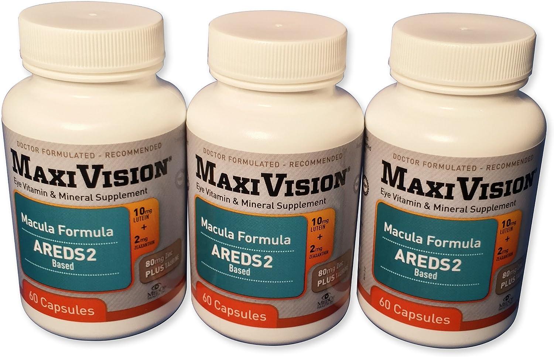 MedOp MaxiVision Macula Formula – 60 Capsules, 3 Bottles