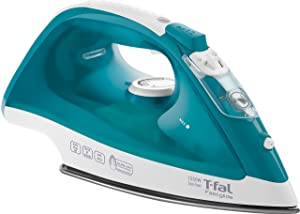 T-fal FV1565U0 Fastglide Non-Stick and Scratch Resistant Durilium Ceramic Soleplate Steam Iron with Anti-Drip and Auto-off System, 1550-Watt, Turquoise