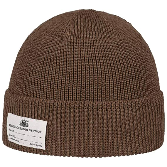 4037ce0fae5 Stetson Onalaska Knit Hat with Cuff Beanie Wool (One Size - Light Brown)