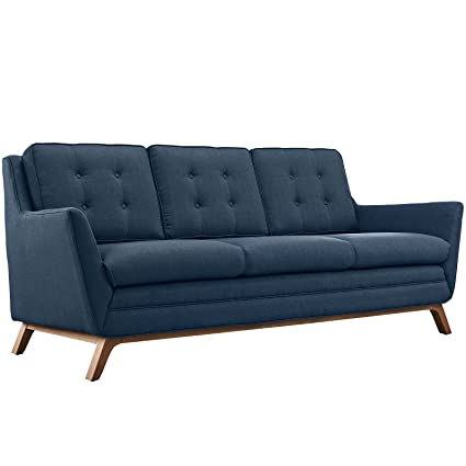 Attrayant Modern Contemporary Fabric Sofa , Navy, Fabric