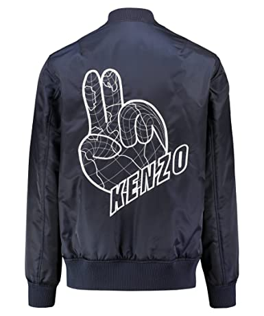 Kenzo Peace Bomber Chaqueta Armada Navy Extra Large: Amazon ...