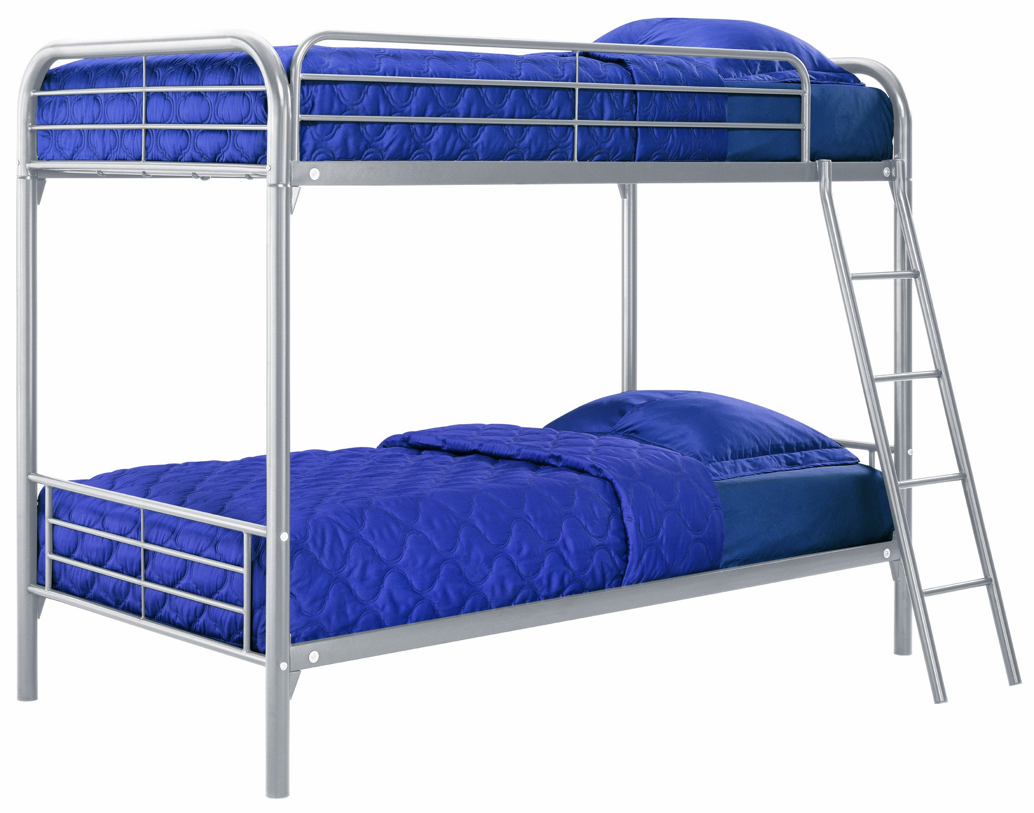 dhp twin over twin metal bunk bed silver ebay. Black Bedroom Furniture Sets. Home Design Ideas