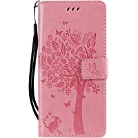 NEXCURIO Samsung Galaxy M30 Wallet Case with Card Holder Folding Kickstand Magnetic Leather Case Shockproof Flip Cover for Galaxy M30 - NEKTU080253 Pink