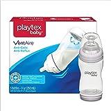 Playtex 宽口防胀气奶瓶,不含双酚 A,三瓶入,颜色可能有所不同,9 盎司