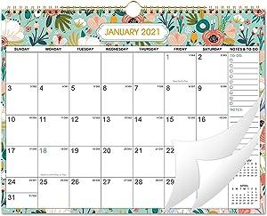 2021-2022 Wall Calendar - 18 Months Wall Calendar, Jan 2021 - Jun 2022, Monthly Wall Calendar 2021-2022 with Julian Dates, 15