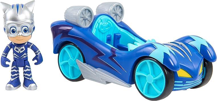 PJ Masks Vehículo Turbo-Gatuno, Color Azul 2 (Bandai 24976)