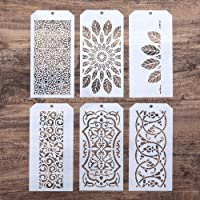 DIY Decorative Stencil Template for Scrapbooking Painting on Wall Furniture Crafts, Set of 6 (Border)