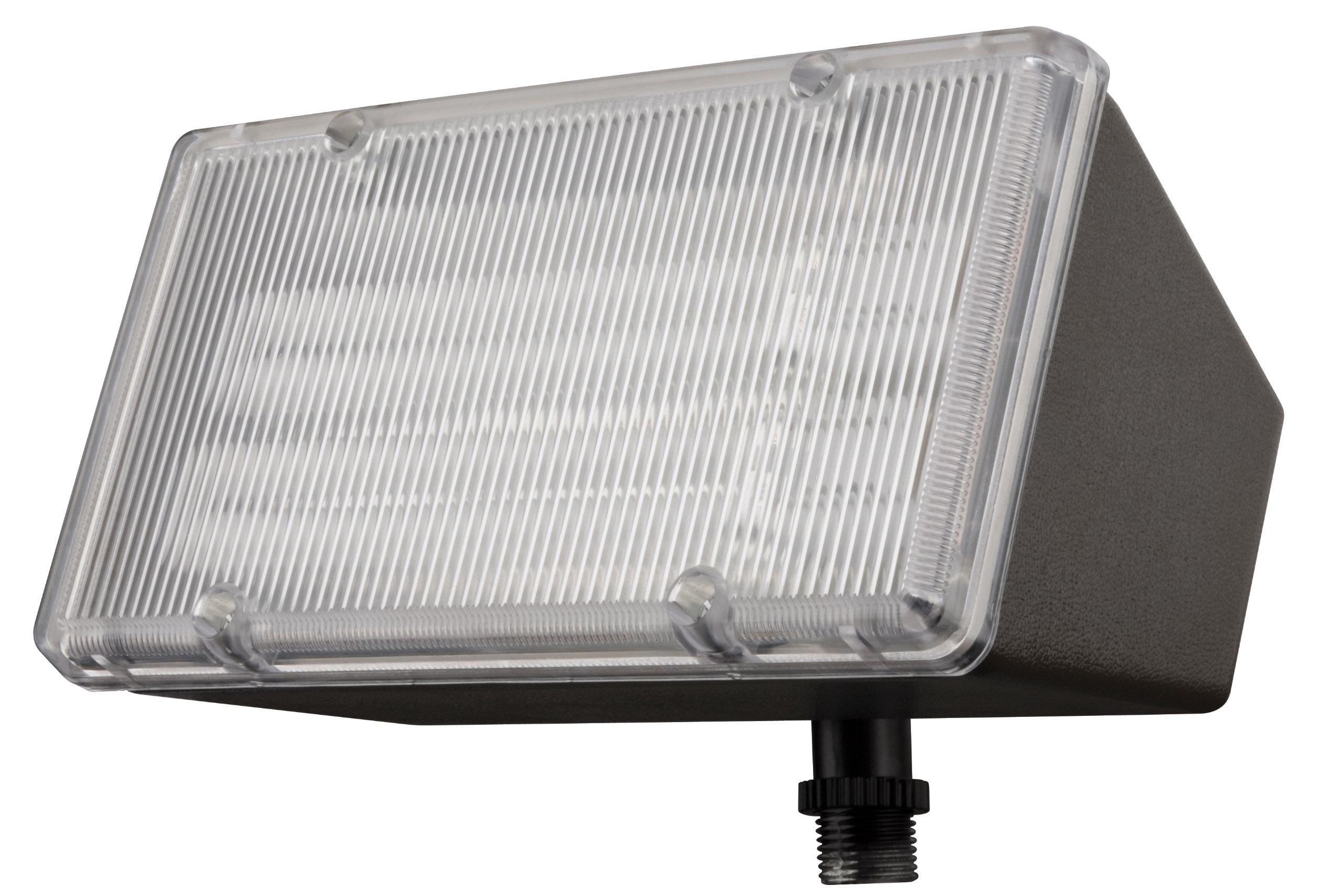 Lithonia Lighting OFL 213F 120 LP BZ M4 Mini-Flood Light with Two 13-Watt 2700K Compact Quad-Tube Fluorscent Lamps, Black Bronze