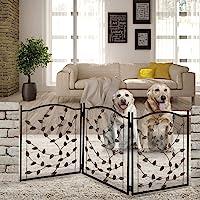 Etna Products TT Puerta de metal para mascotas con diseño de hojas