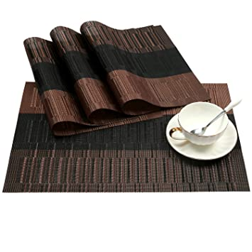 amazon 4 ombre coffee and black shacos exquisite pvc placemats