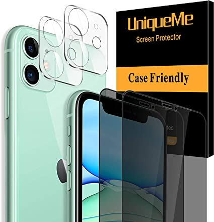 2 Pack Tempered Glass Camera Lens Protector for iPhone 11 Pro Max 6.5 Full Coverage 4 Pack UniqueMe 2 Pack Tempered Glass Screen Protector