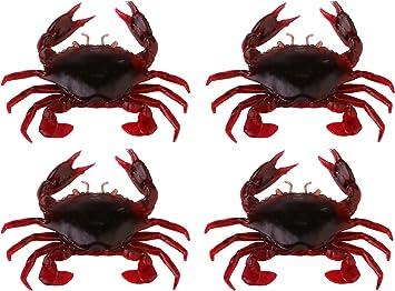 Angeln 3D Soft Lure Crab Simulation Salzwasser Haken Hakenköder Zubehör