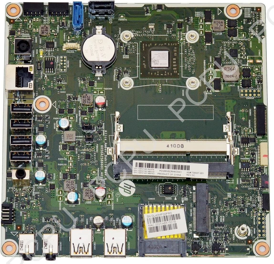 730937-001 HP 23-G110 AIO Alice Amber Motherboard w/ AMD A6-5200 2.0GHz CPU