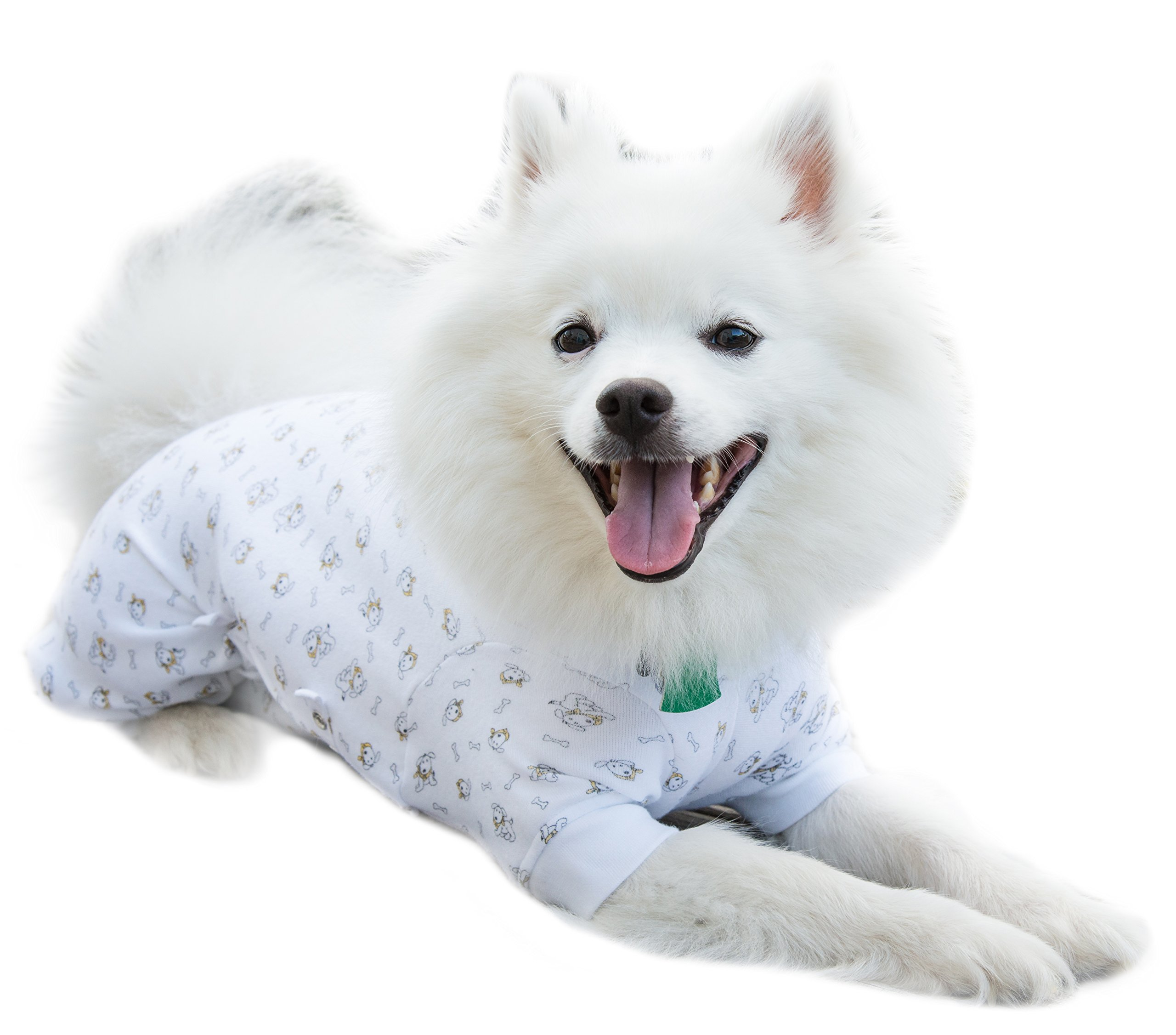 Cover Me by Tui  Adjustable Fit Puppy Print Pullover with Long Sleeve for Pets, XX-Small
