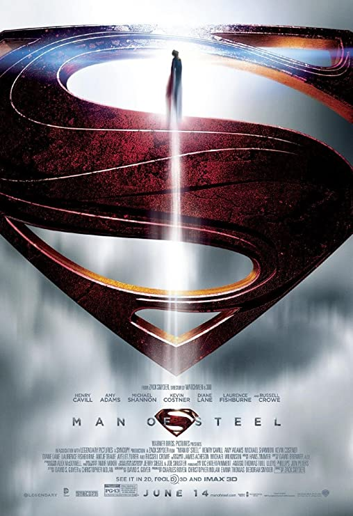 Amazon.com: Man of Steel movie poster family silk wall print 36 inch x 24  inch: Posters & Prints