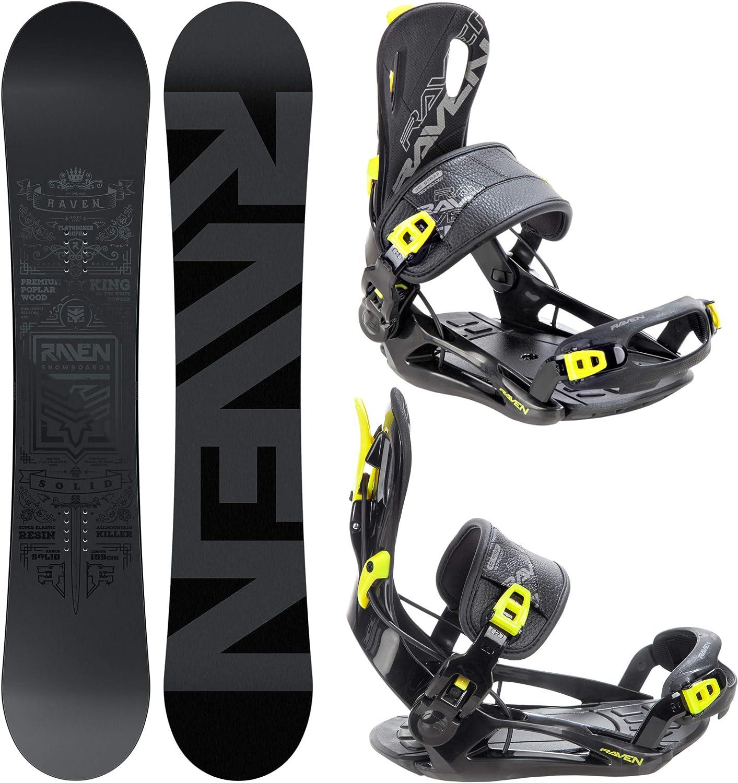 Snowboard Solid Steel RAVEN Snowboard Set Bindung Fastec FT270 Lemon
