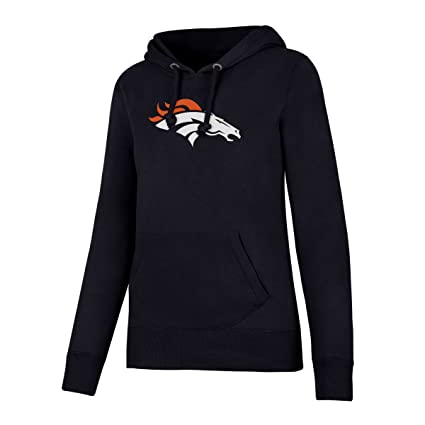 pretty nice 2efb1 8faac NFL Denver Broncos Women's OTS Fleece Hoodie, Light Navy, Large