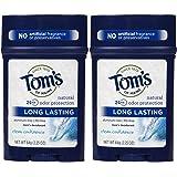 Tom's of Maine Long Lasting Mens PGF Stick Deodorant, Clean Confidence - 2.25 oz - 2 pk