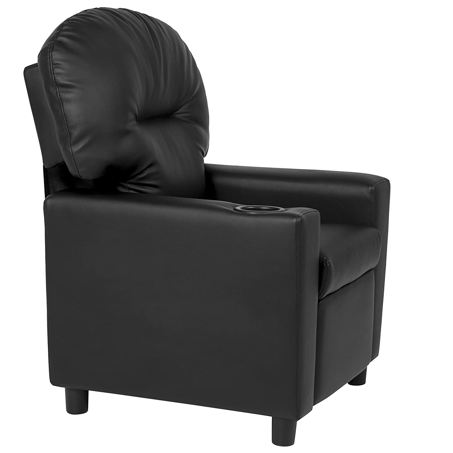 Amazon.com BCP Contemporary Black Leather Kids Recliner Chair with Cup Holder Home u0026 Kitchen  sc 1 st  Amazon.com & Amazon.com: BCP Contemporary Black Leather Kids Recliner Chair ... islam-shia.org