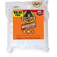 """Gorilla 3034502 Hot Glue Stick Full Size, 4"""" (45 Piece)"""