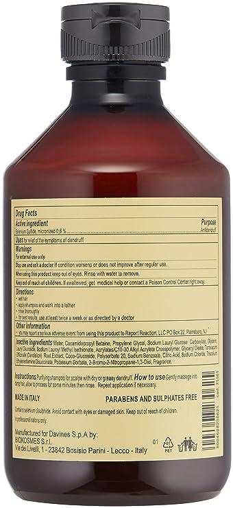 Amazon Davines Purifying Shampoo 845 Fl Oz Davines Luxury
