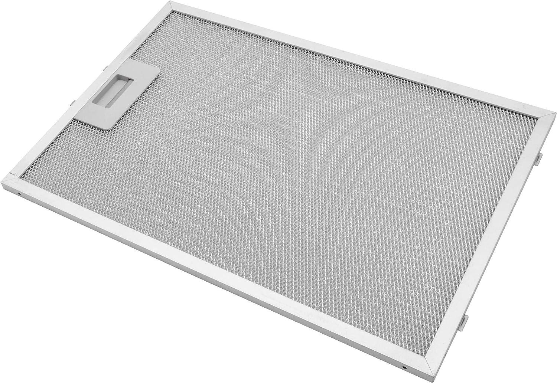 vhbw Filtro permanente metálico para grasa 38,8 x 26,5 x 0,9cm adecuado para Bosch VVA 62 E350, 62 E450, 92 E350, 92 E452 campana extractora metal: Amazon.es: Grandes electrodomésticos