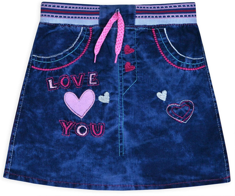 JollyRascals Falda de Jean para niñas, 100% algodón, para niños ...