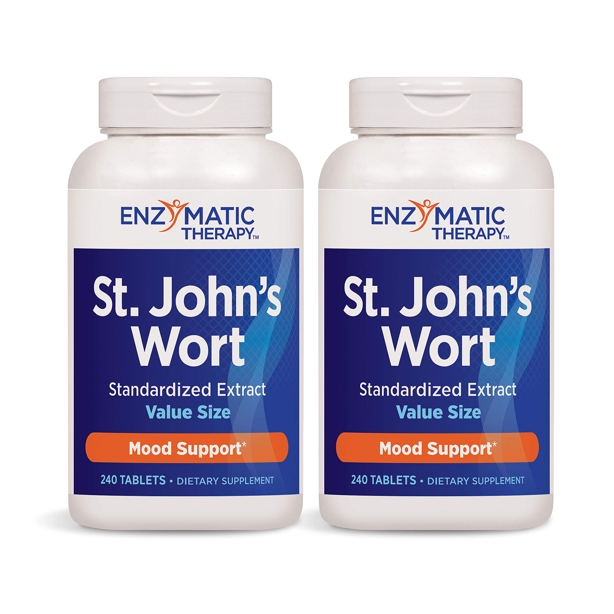 Enzymatic Therapy St. John's Wort Standardized Extract Mood Support, 240 Count (Pack of 2)