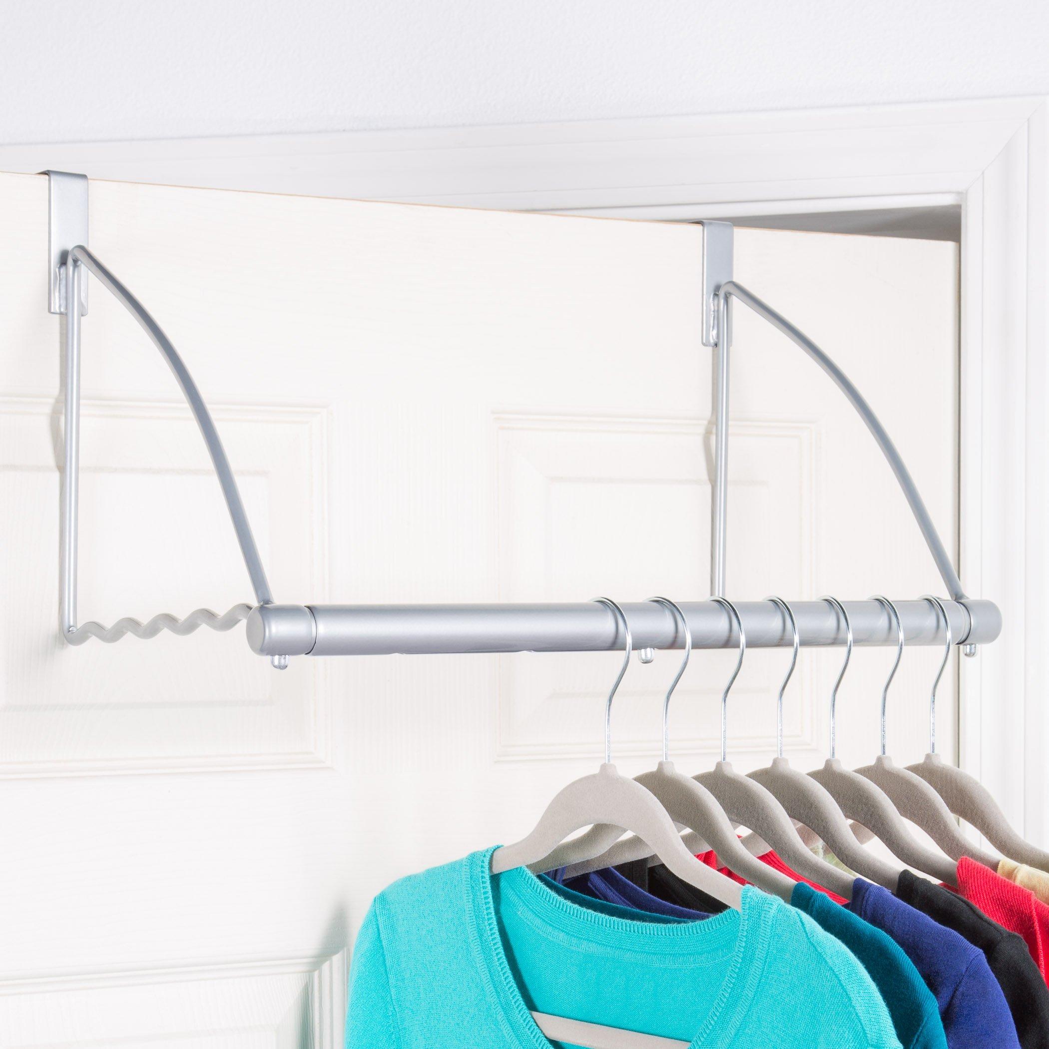 Over The Door Closet Rod Multifunctional Over The Door Clothes