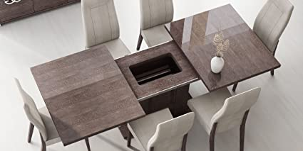 Amazon.com - ESF Prestige High Gloss Wenge Lacquer Dining ...