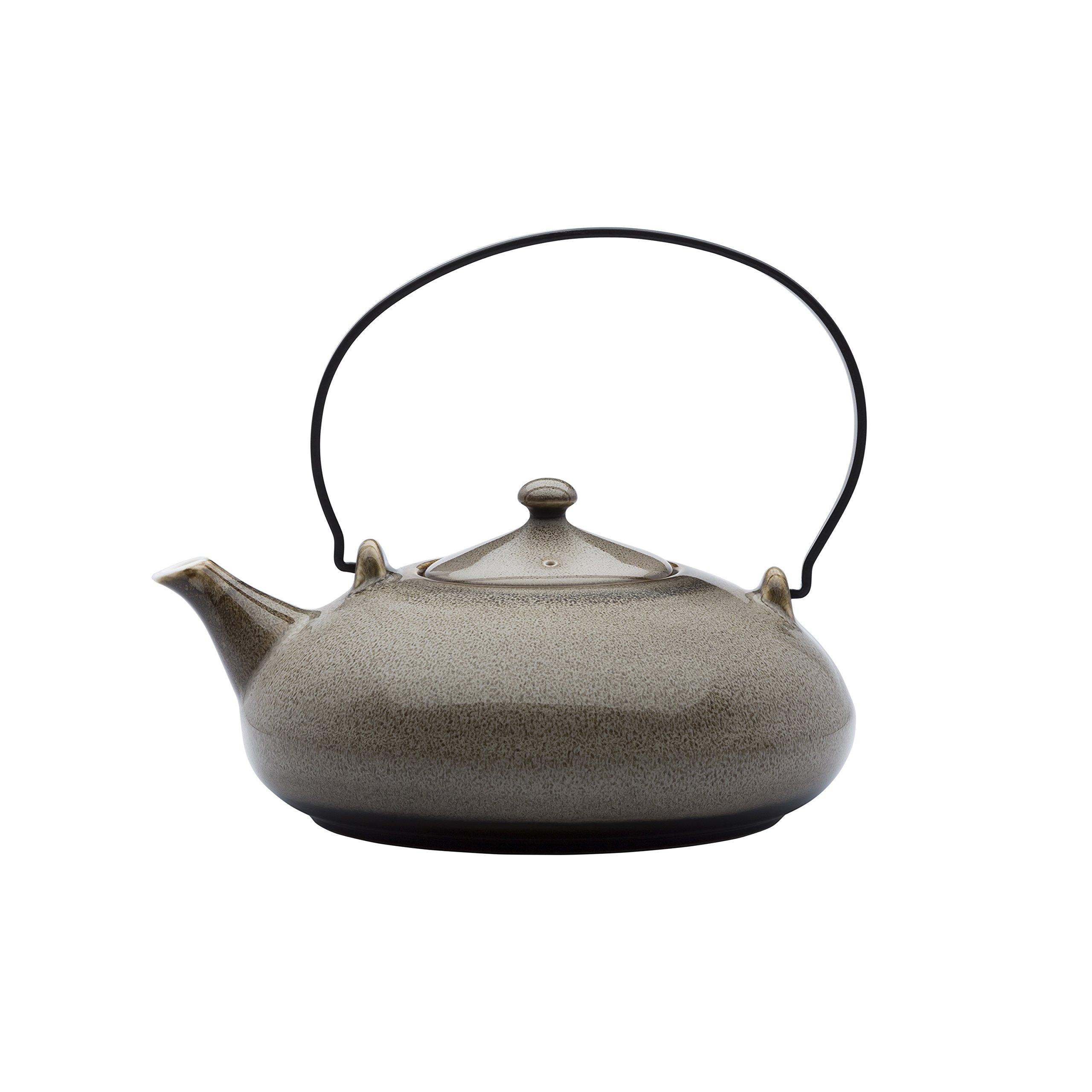 Oneida Foodservice L6753059861 Metal Teapot w/ Handles, 6.25'', Rustic Chestnut