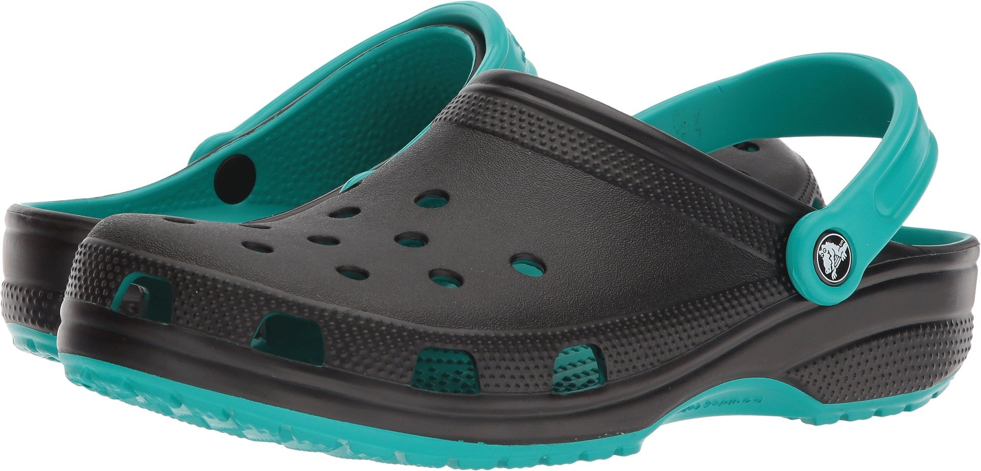 Crocs Classic Carbon Graphic CLG Clog, Tropical Teal, 11 US Men/ 13 US Women M US by Crocs
