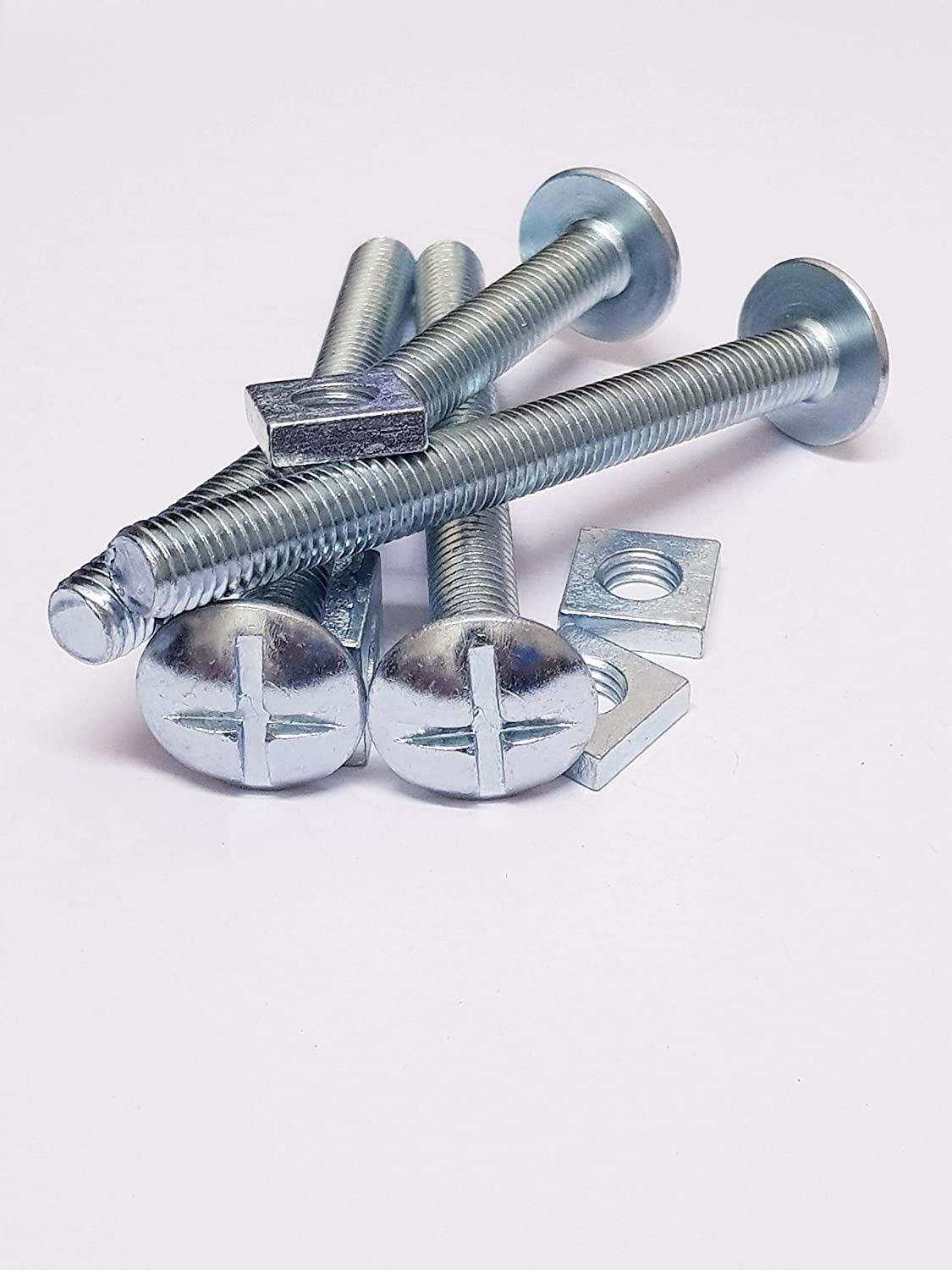 ZINC /& CLEAR M10 X 200mm MUSHROOM HEAD ROOFING BOLTS WITH SQUARE NUTS PACK OF 5