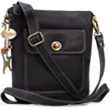 Catwalk Collection Handbags - Women's Leather Cross Body Bag with Detachable Adjustable Strap - LAURA