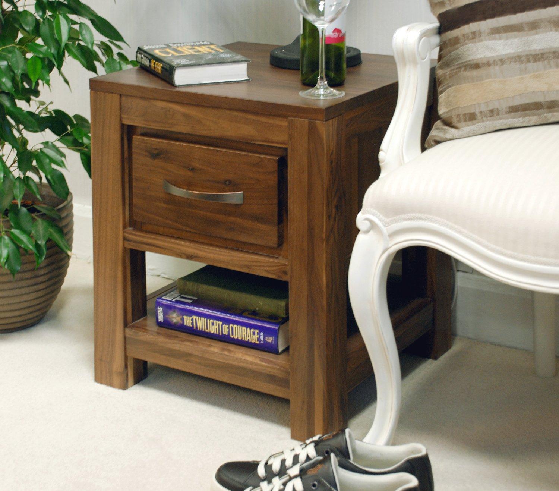 Baumhaus Mayan Walnut One Drawer Lamp Table: Amazon.co.uk: Kitchen U0026 Home