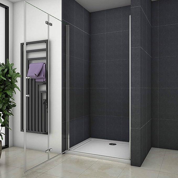 76x195cm Mamparas de ducha Pantalla baño plegable puerta de ducha Aica: Amazon.es: Bricolaje y herramientas