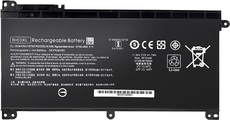 BI03XL Battery for HP Pavilion X360 M3-U 13-U M3-U001DX M3-U103DX 13-U100TU 13-U100TU 13-U118TU Stream 14-AX 14-ax010nr 14-ax020wm 14-ax030wm TPN-W118 Laptop HSTNN-LB7P HSTNN-UB6W 843537-541