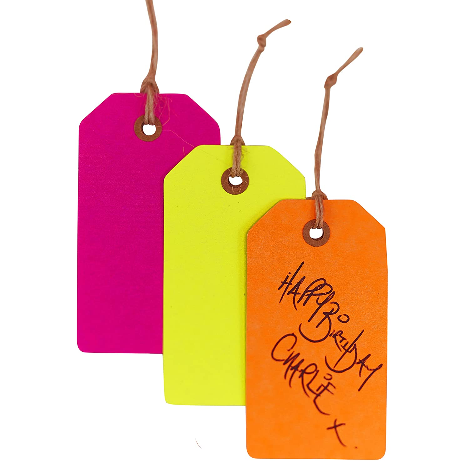 Pink NB-250 Ginger Ray Neon Fluorescent Happy Birthday Paper Party Napkins