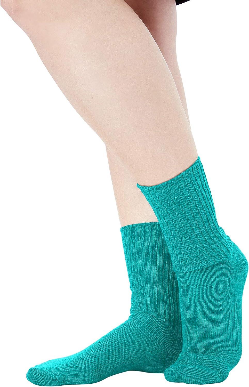 Comfort Choice Womens Plus Size 6-Pack Rib Knit Socks
