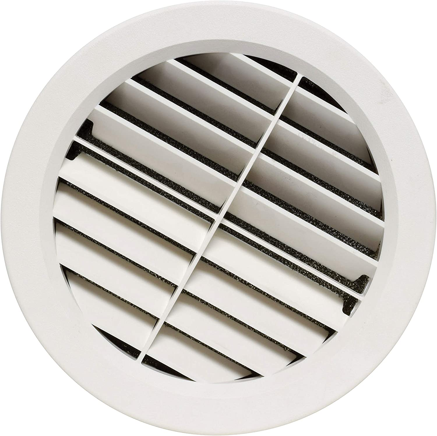 "Valterra A10-3361VP Beige Rotating Heat and A/C Register with Fixed Vane (5"" ID, 7/8"" Collar)"