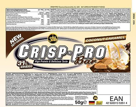 All Stars Crisp-Pro Bar Cocos-Caramel - 24 Barras: Amazon.es: Salud y cuidado personal