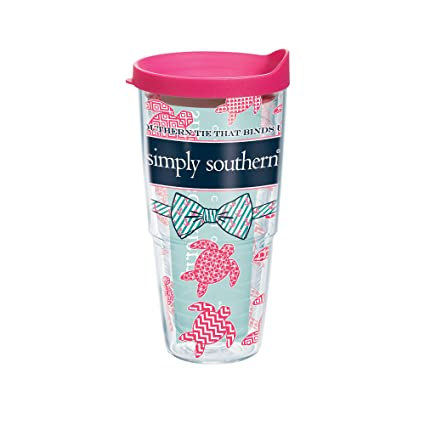 5c2893ecc01 Tervis Simply Southern All Turtle Tumbler with Travel Lid, 24 oz, Clear